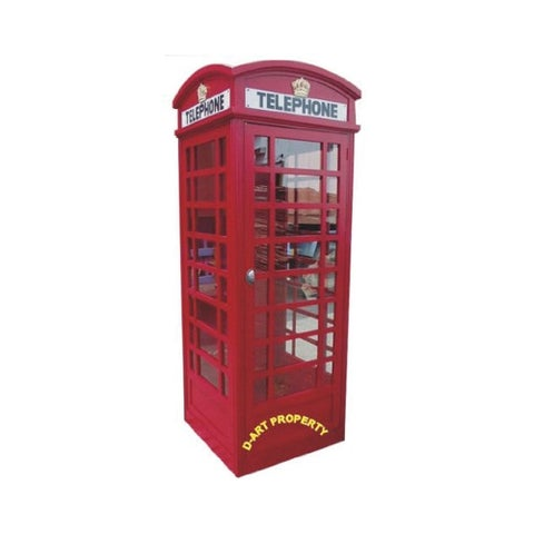 Offex Handcrafted Solid Kiln Dried Mahogany Wood Big London Telephone Booth