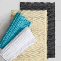 Madison Park Copula Yarn Dyed Cotton Chenille Chain Stitch Rug