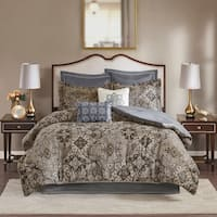 Madison Park Marcel Neutral 8 Piece Chenille Jacquard Comforter Set