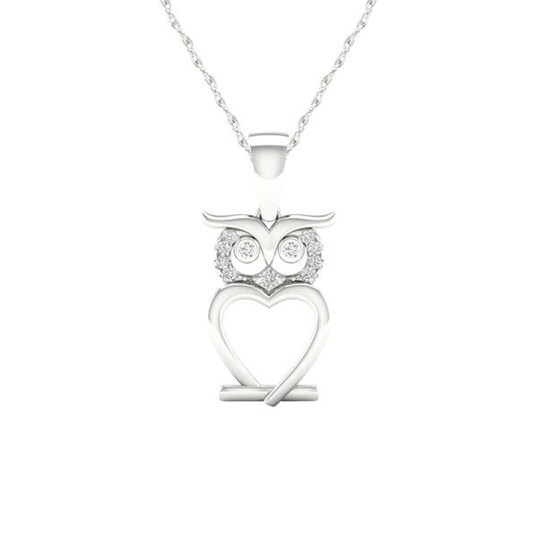 26de07bca82c1 Shop De Couer IGI Certified S925 Sterling Silver 1/20ct TDW Diamond ...