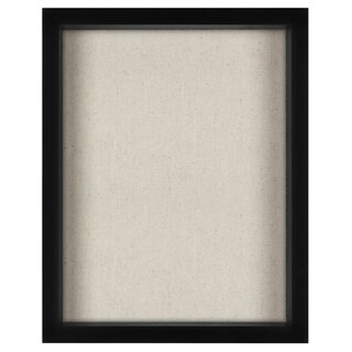 11x14 Inch Shadow Box Frame with Soft Linen Back - Perfect to Display Memorabilia, Pins, Awards, Medals, Tickets and Photos