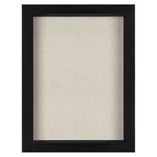 Americanflat 8.5x11 Inch Document Shadow Box Frame with Soft Linen Back