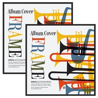 "2 Pack - Top Rated Album Frame - Made to Display Album Covers and LP Covers 12.5"" x 12.5"""