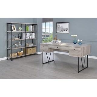 Chic Atelier Writing Desk-4 Drawer, Driftwood Gray