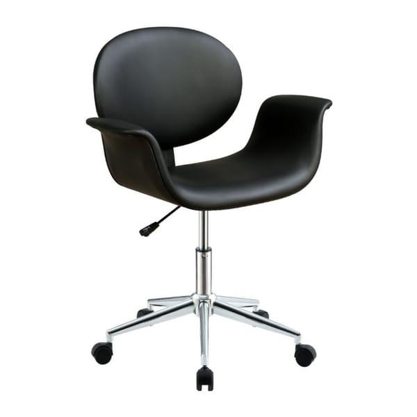 Metal & Wooden Office Arm Chair, Black