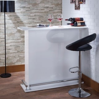 Modish Bar Table, White High Gloss