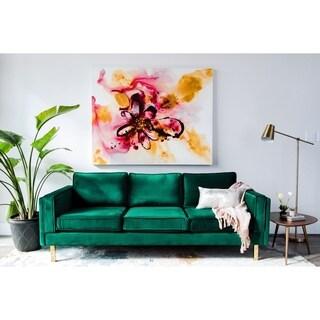 Bridgette MidCentury Modern Velvet Upholstered Sofa