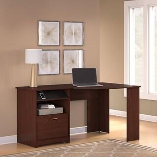 Bush Furniture Cabot Corner Desk in Harvest Cherry