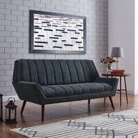 Palm Canyon Olivos Mid-century Modern Medium Blue Velvet Sofa