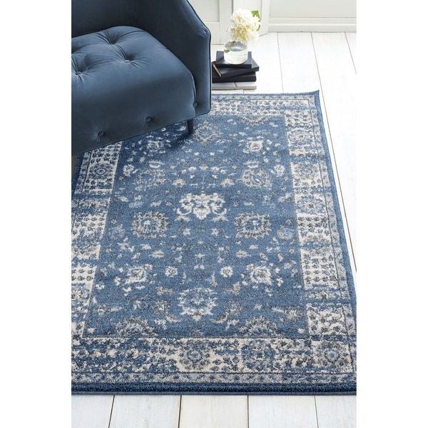 "Westfield Home Luanda Omari Midnight Blue Area Rug - 5' x 8'/5'3"" x 7'2"""