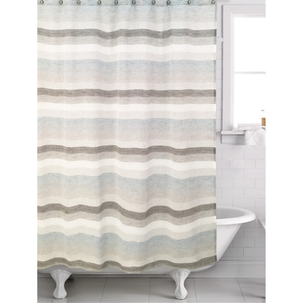 Shop Horizon Blue Shower Curtain
