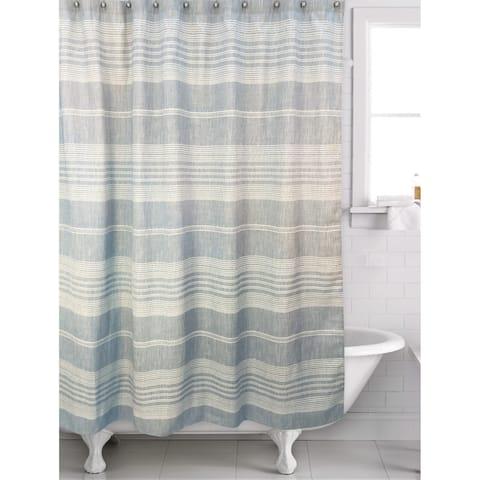 Liam Blue shower curtain