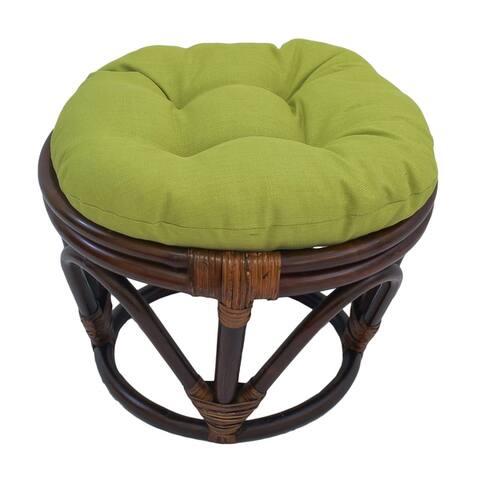 Blazing Needles 18-inch Indooor/Outdoor Footstool Cushion