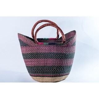 Handmade Y shaped basket with colors (Ghana)