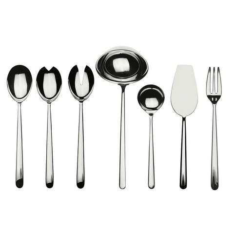 Stainless Steel 7-piece Linea Full Serving Set