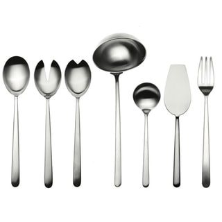 Stainless Steel 7-piece Linea Ice Full Serving Set