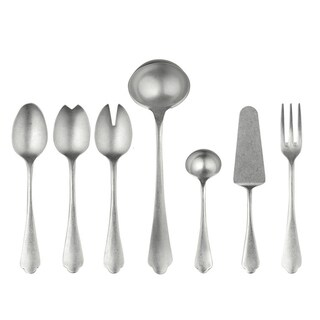 Stainless Steel 7-piece Dolce Vita Pewter Full Serving Set