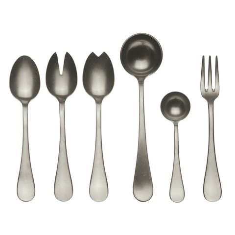 Stainless Steel w/PVD Titanium Coating 7-piece Vintage Champagne Full Serving Set