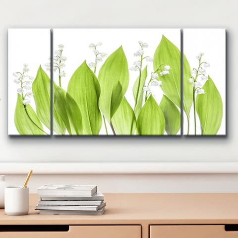 'Lilly of the Valley' 3-Pc Floral Canvas Wall Décor Set