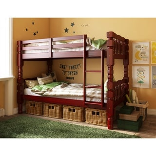 Link to Dakota Solid Wood Twin Over Twin Bunk Bed by Palace Imports Similar Items in Kids' & Toddler Furniture