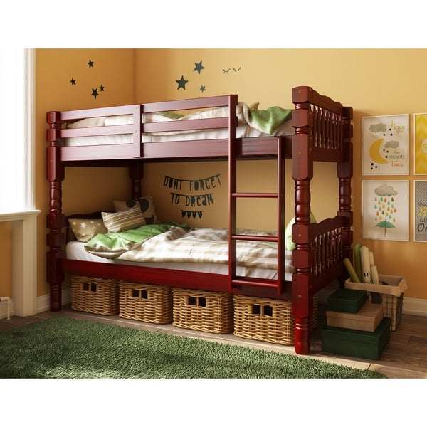 Dakota Solid Wood Twin Over Twin Bunk Bed by Palace Imports