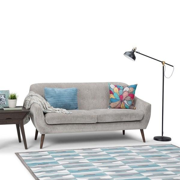 Shop WYNDENHALL Milo Mid Century Modern 72 inch Wide Sofa in Dove ...
