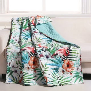 Barefoot Bungalow Tropical Palm Leaf Throw
