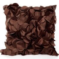 Petal Chocolate Brown 18 X 18 Accent Pillow