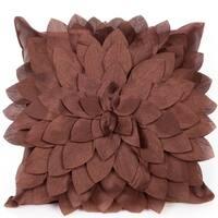 Amilia Chocolate Brown 18 X 18 Accent Pillow