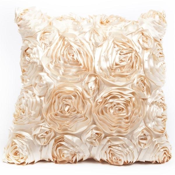 Rose Natural 16 x 16 Accent Pillow