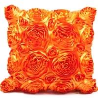 Rose Orange 16 x 16 Accent Pillow