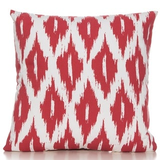 Ikat Red/white 20 x 20 Accent Pillow