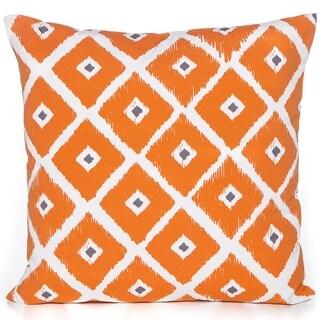 Diamond Orange 20 x 20 Accent Pillow