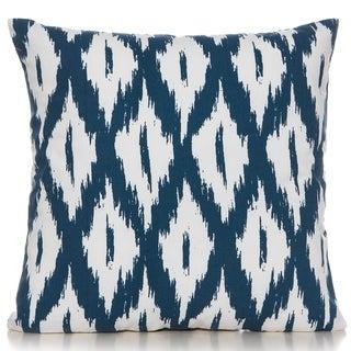 Ikat Indigo Blue/white 20 x 20 Accent Pillow