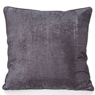 Chenille Charcoal Grey 20 x 20 Accent Pillow