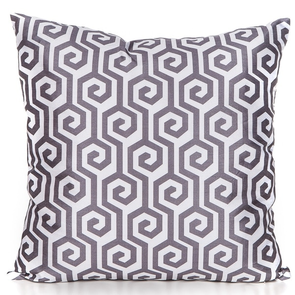 Maze Charcoal Grey 20 x 20 Accent Pillow