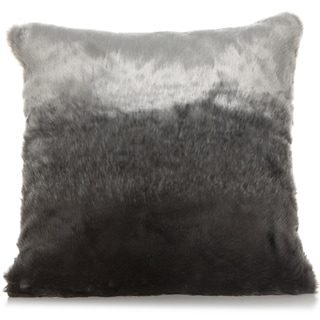 Lush Grey/white 18 X 18 Accent Pillow
