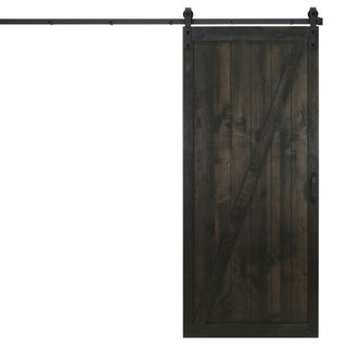 "Classic Z Sliding Barn Door With Hardware (36"" x 84"")"