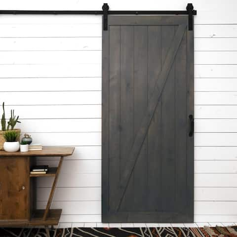 "Classic Z Sliding Barn Door With Hardware (36"" x 84"")"