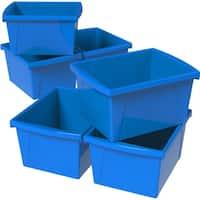 Storex 4 Gallon &15 L Classroom Storage Bin / 4 Colors Options (6 units/pack)