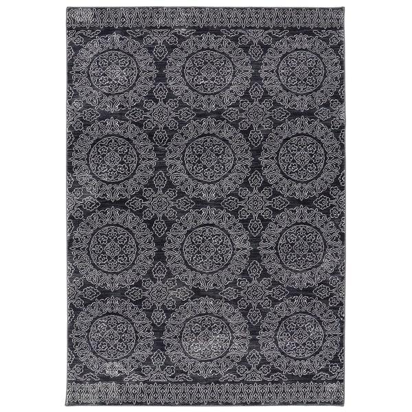 Mohawk Home Savannah Leawood Beige/Black/Grey Area Rug (5'3 x 7'10)