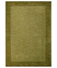 Hand-tufted Olive Green Border Wool Rug - 8' x 10'6
