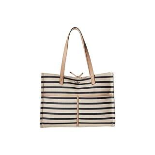 Kate Spade Washington Square Mega Sam Canvas Rich Navy Stripe Handbag