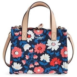Kate Spade Washington Square Small Sam Canvas Rich Navy Multi Handbag a958ad4ceb