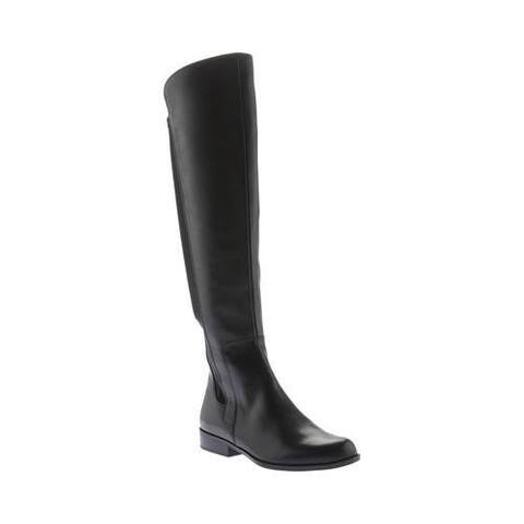 58a35fd4786b Women s Bandolino Chieri Over The Knee Boot Black Leather Lycra