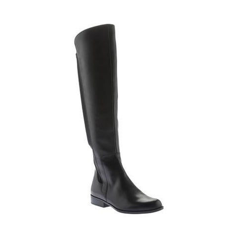 Women's Bandolino Chieri Wide Calf Over The Knee Boot Black Leather/Lycra
