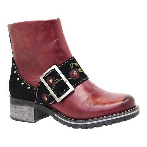 Women's Dromedaris Kamilah Short Ankle Boot Ruby Leather