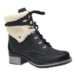Women's Dromedaris Kara Shearling Boot Black Leather - Thumbnail 0