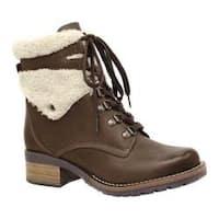 Women's Dromedaris Kara Shearling Boot Chocolate Leather