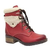 Women's Dromedaris Kara Shearling Boot Red Leather